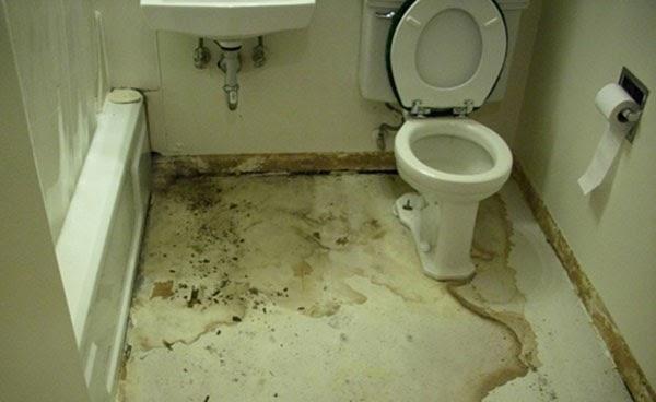 Nhiều gia đình bị thấm sàn vệ sinh