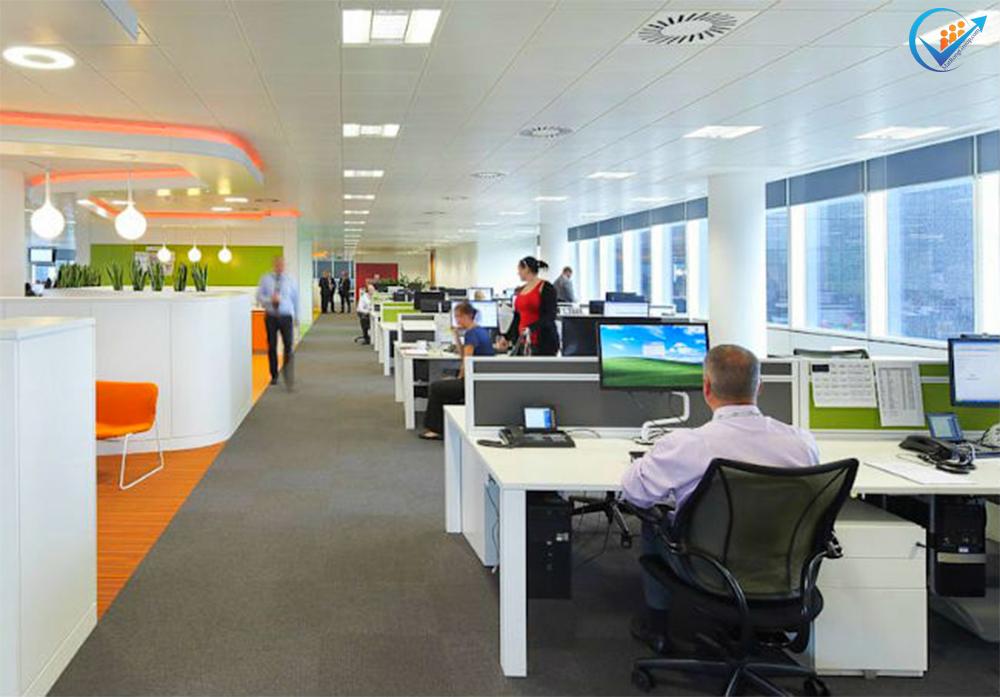 Thiết kế nội thất văn phòng theo phong cách mở