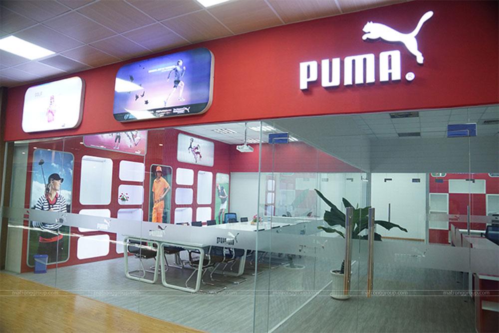 thiết kế showroom thời trang Puma 1