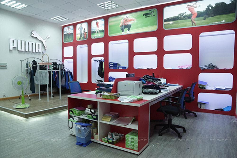 thiết kế showroom thời trang Puma 4