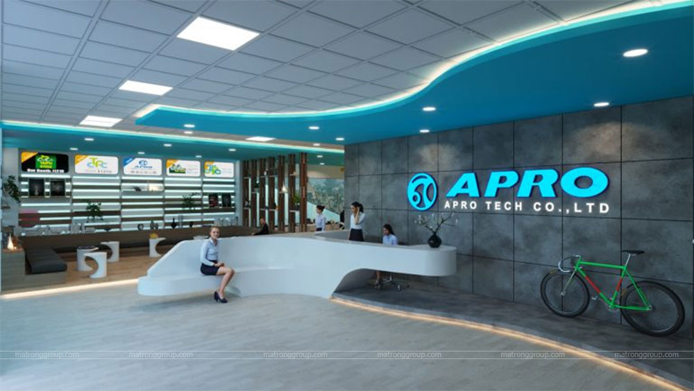 thiết kế showroom xe đạp thể thao APRO II 1