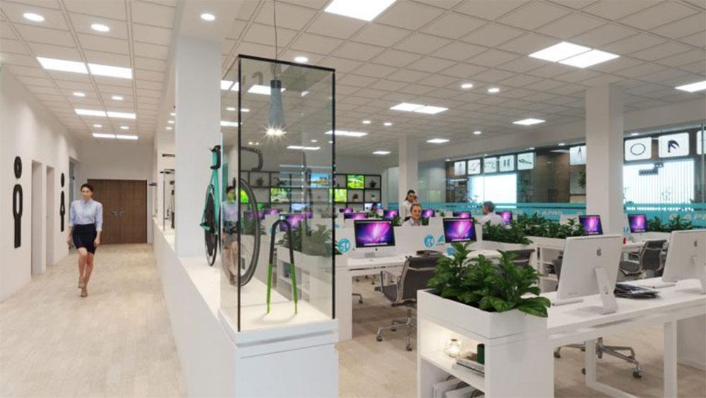 thiết kế showroom xe đạp thể thao APRO II 12