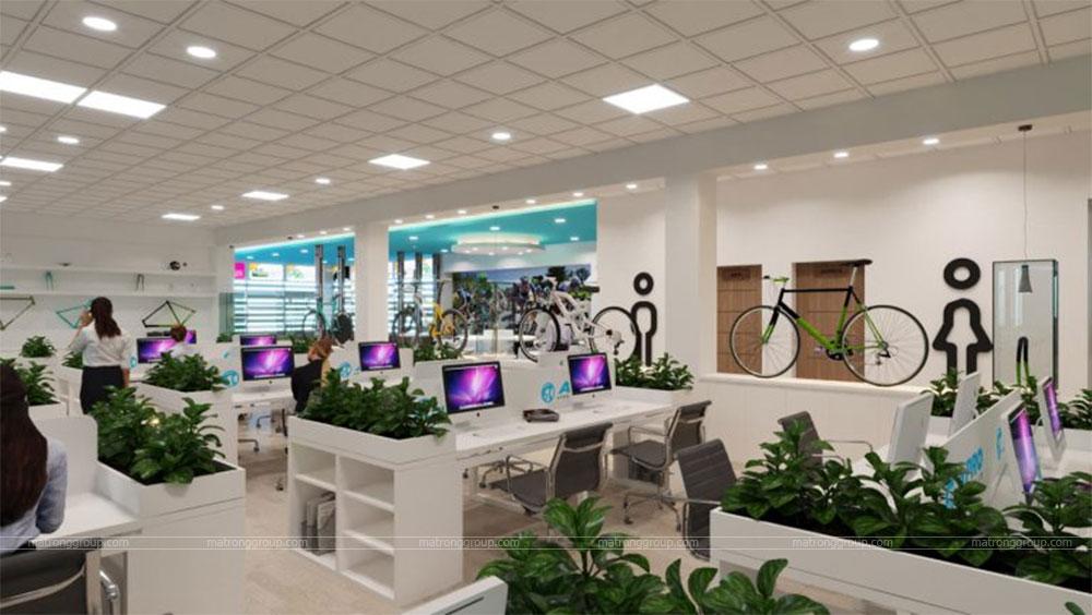 thiết kế showroom xe đạp thể thao APRO II 13