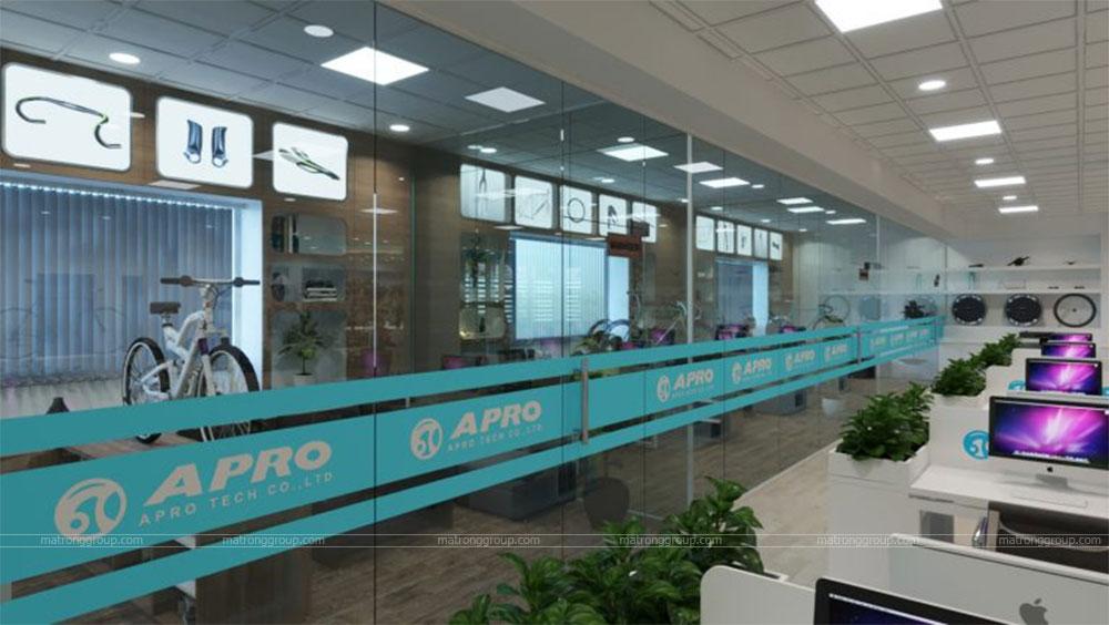 thiết kế showroom xe đạp thể thao APRO II 17