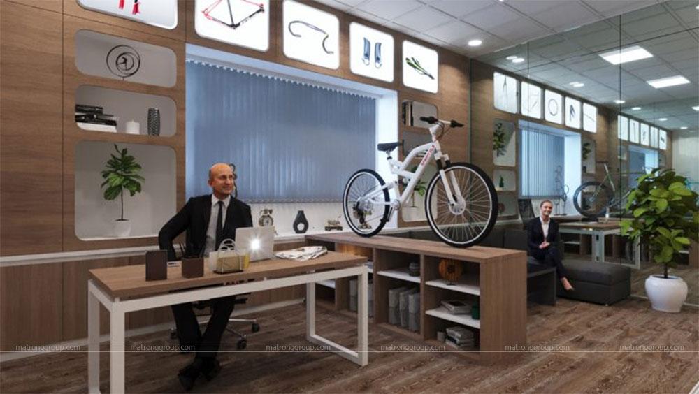 thiết kế showroom xe đạp thể thao APRO II 18