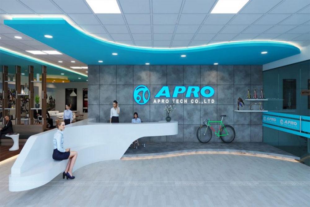 thiết kế showroom xe đạp thể thao APRO II 2