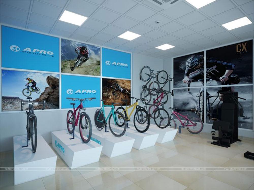 thiết kế showroom xe đạp thể thao APRO II 25