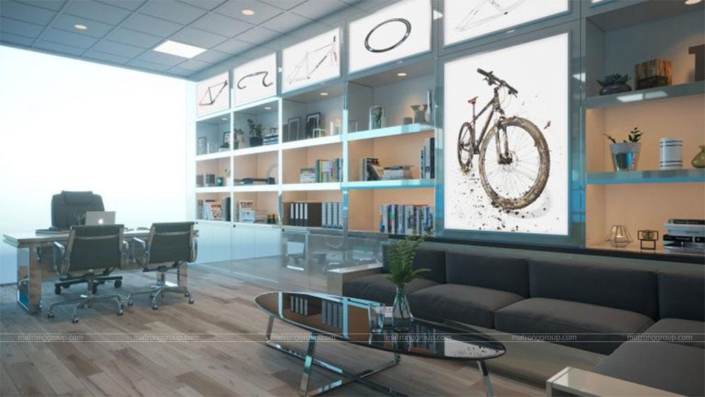 thiết kế showroom xe đạp thể thao APRO II 26