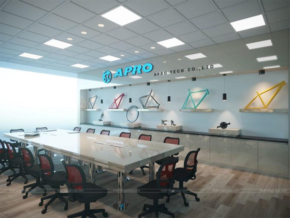 thiết kế showroom xe đạp thể thao APRO II 30