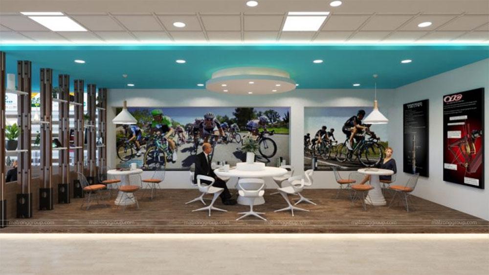 thiết kế showroom xe đạp thể thao APRO II 8