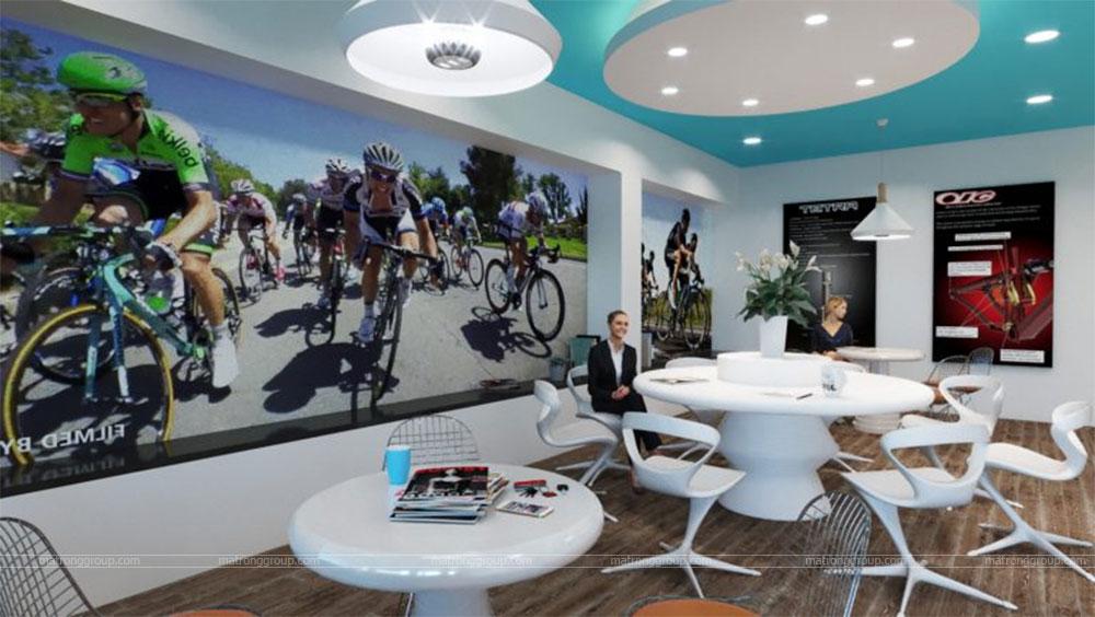 thiết kế showroom xe đạp thể thao APRO II 9