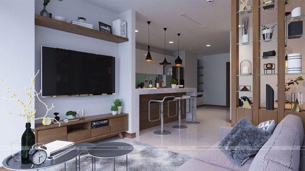 thiết kế thi công căn hộ A5.14 Vinhome Central Park 1