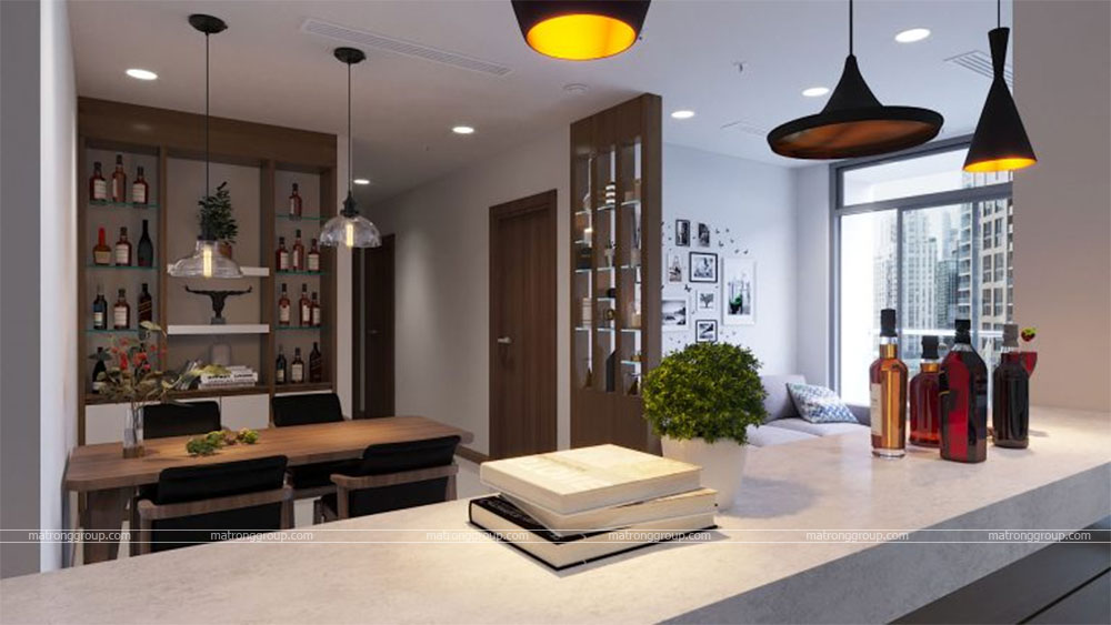 thiết kế thi công căn hộ A5.14 Vinhome Central Park 3