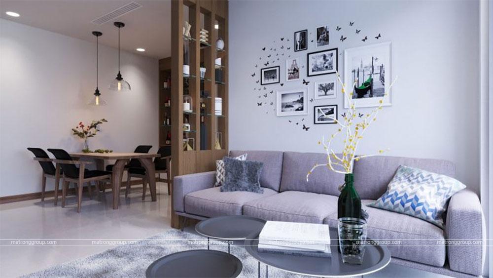 thiết kế thi công căn hộ A5.14 Vinhome Central Park 4