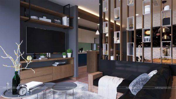 thiết kế thi công căn hộ A5.15 Vinhome Central Park 1