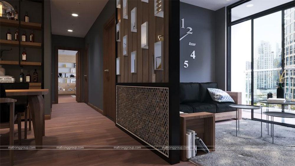 thiết kế thi công căn hộ A5.15 Vinhome Central Park 2