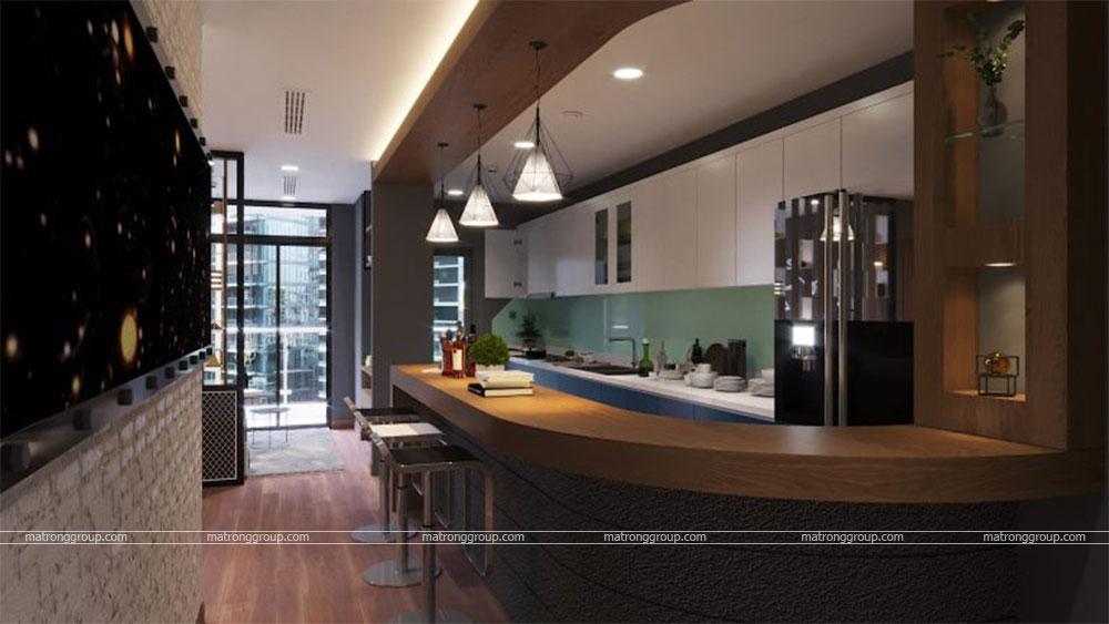 thiết kế thi công căn hộ A5.15 Vinhome Central Park 5