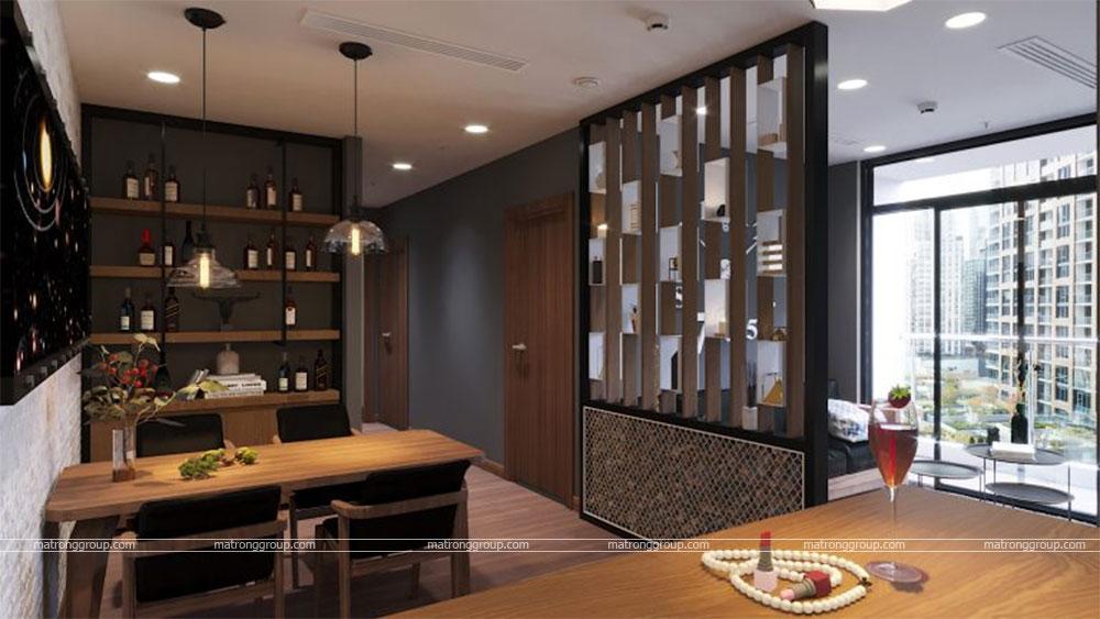 thiết kế thi công căn hộ A5.15 Vinhome Central Park 6