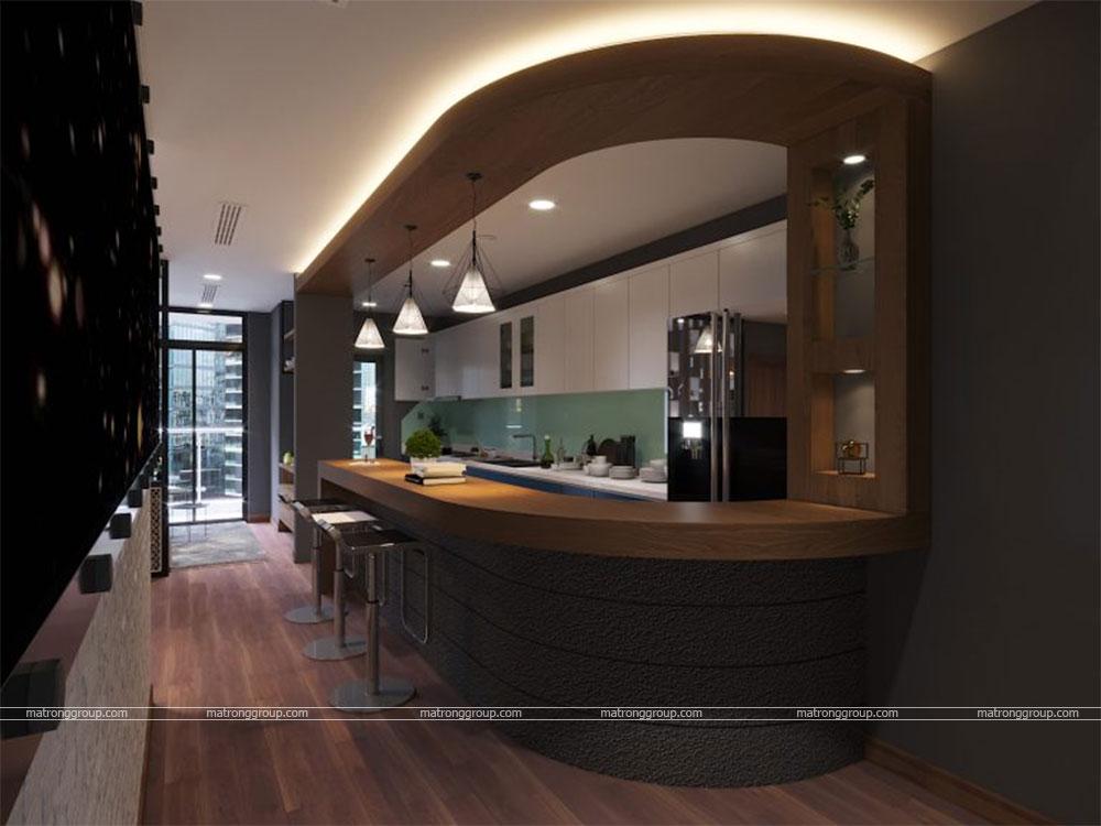 thiết kế thi công căn hộ A5.15 Vinhome Central Park 7