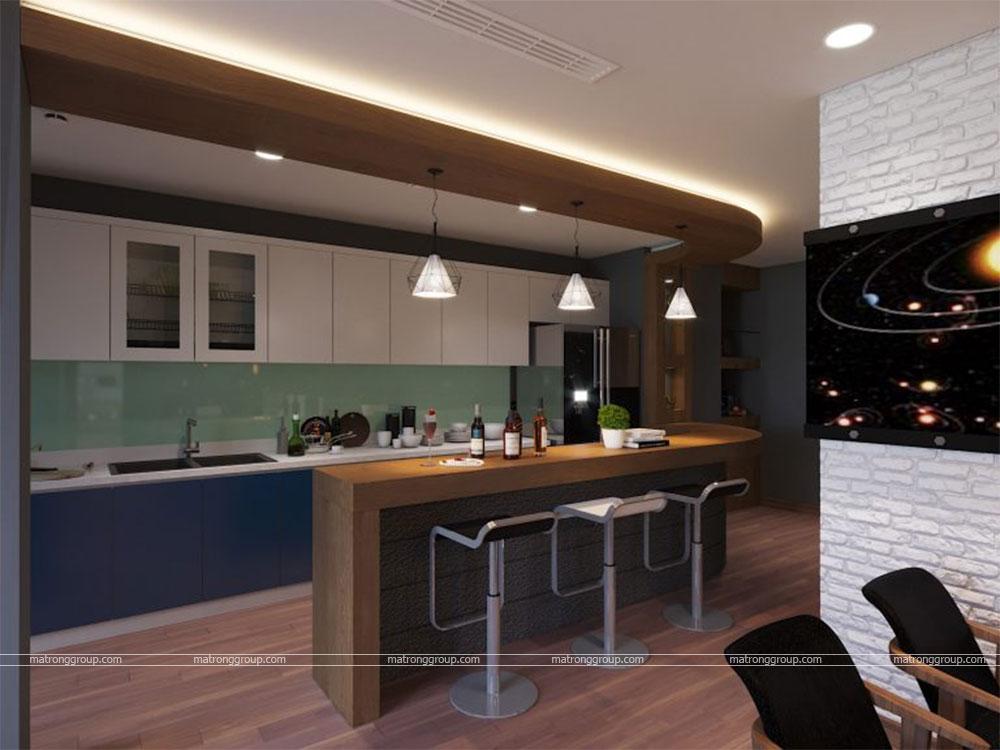 thiết kế thi công căn hộ A5.15 Vinhome Central Park 8