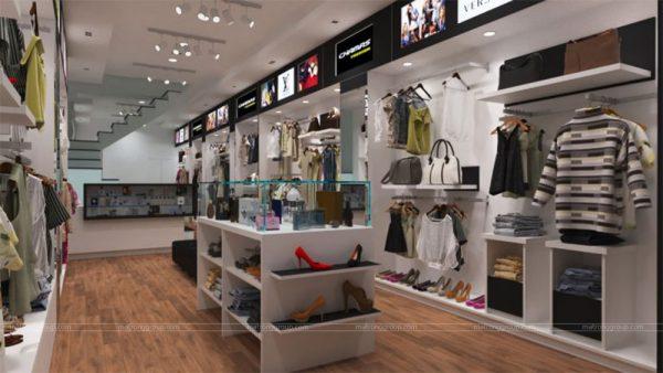 thiết kế thi công cửa hàng thời trang CHAMPS 1