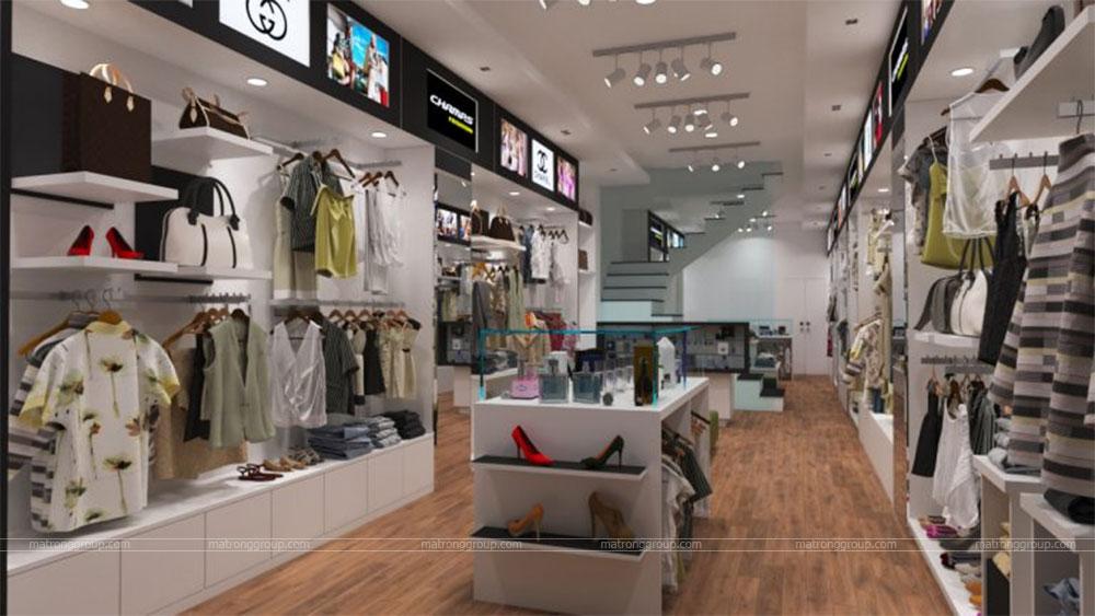 thiết kế thi công cửa hàng thời trang CHAMPS 2