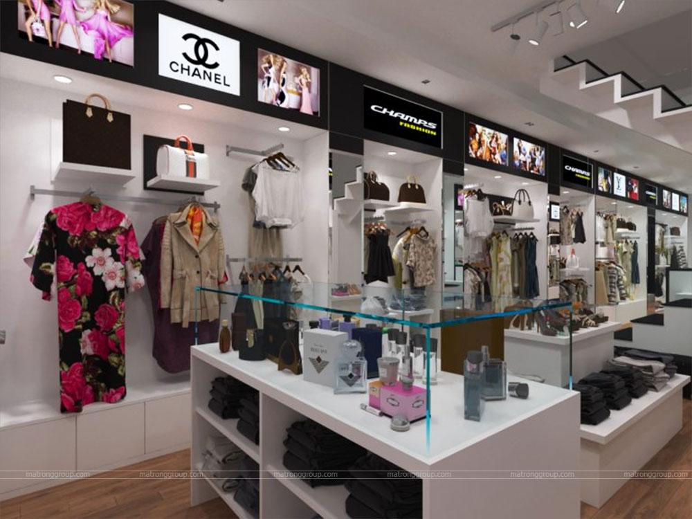 thiết kế thi công cửa hàng thời trang CHAMPS 3