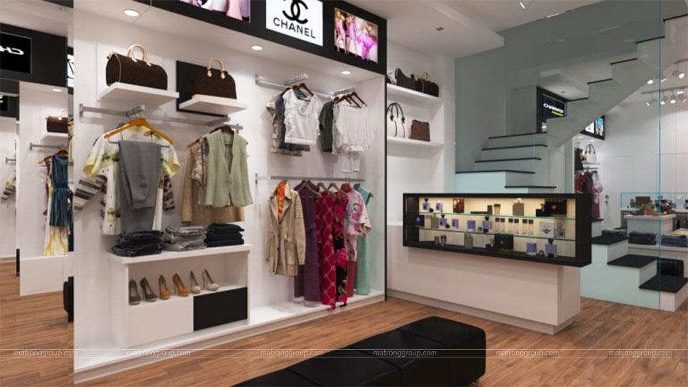 thiết kế thi công cửa hàng thời trang CHAMPS 4