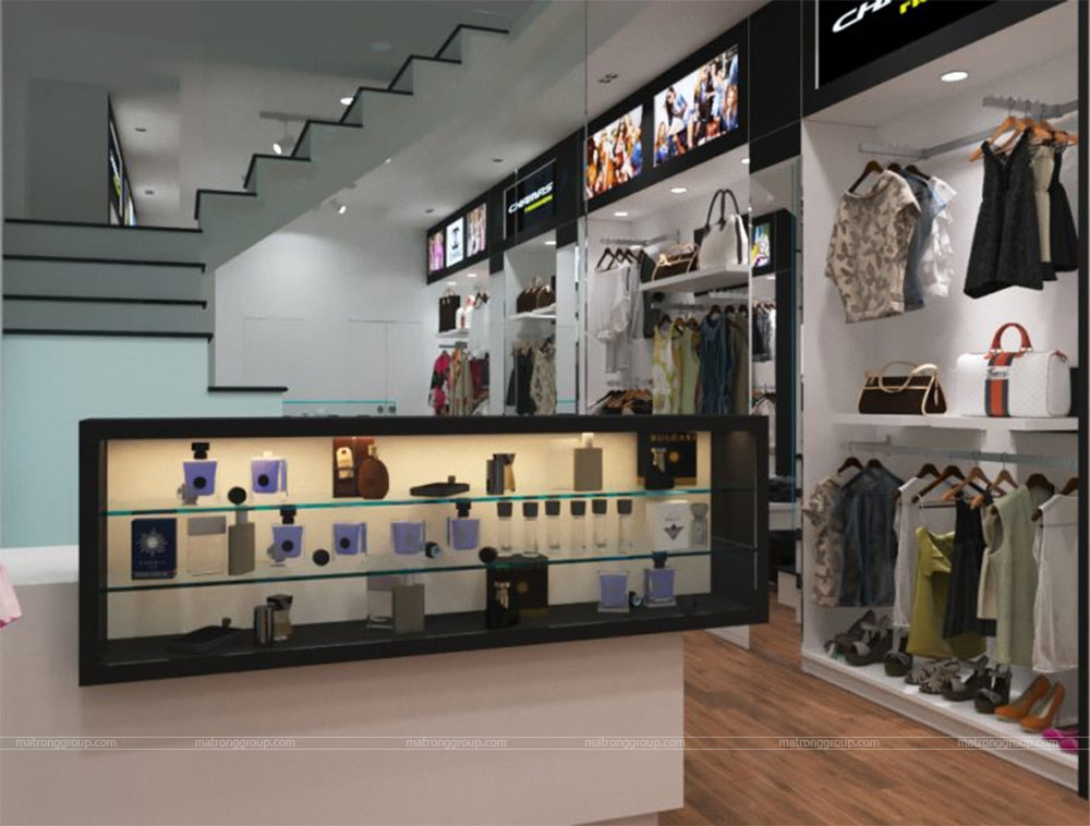 thiết kế thi công cửa hàng thời trang CHAMPS 5