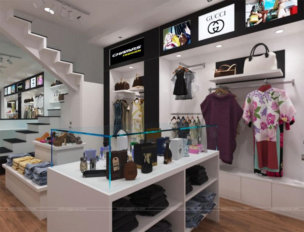 thiết kế thi công cửa hàng thời trang CHAMPS 6