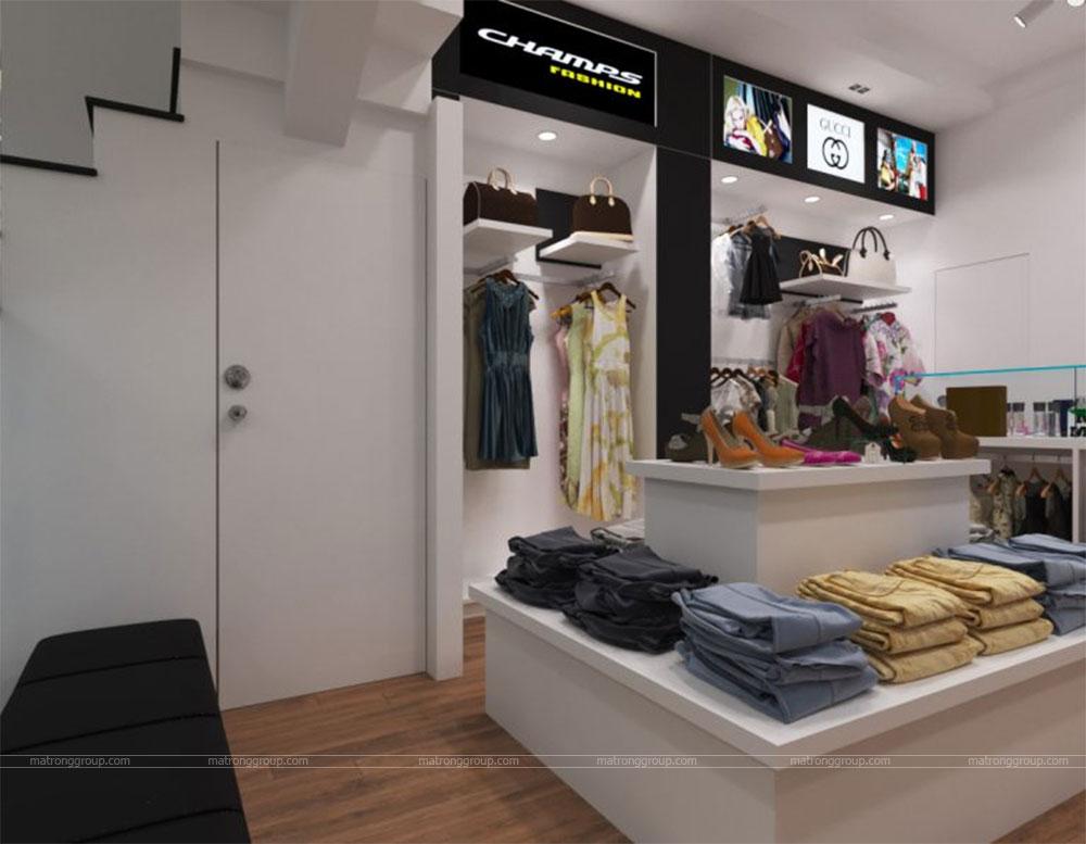 thiết kế thi công cửa hàng thời trang CHAMPS 7