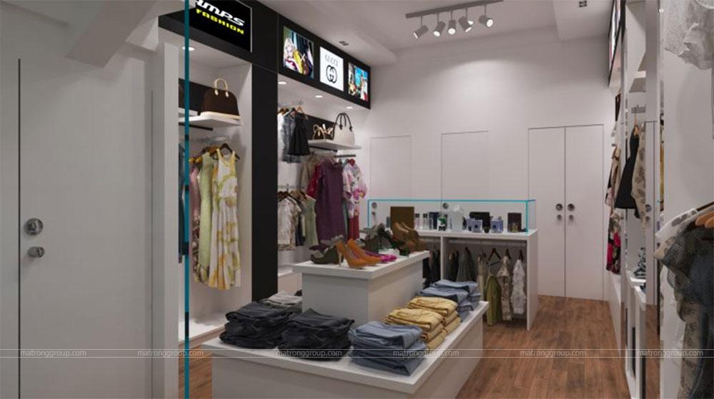 thiết kế thi công cửa hàng thời trang CHAMPS 8