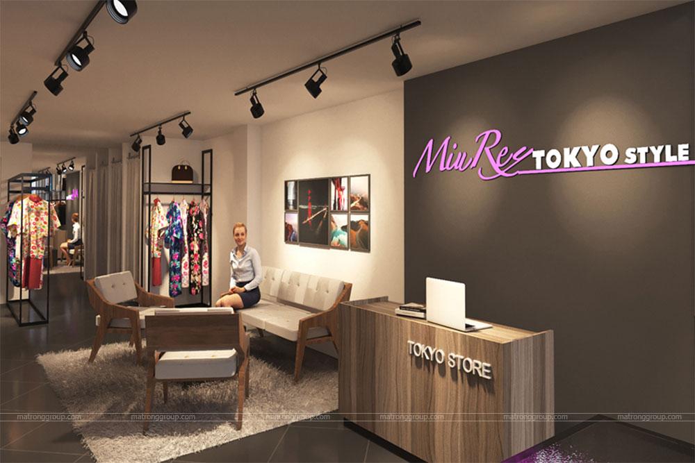 thiết kế thi công cửa hàng thời trang Miu Rey TOKYO 1