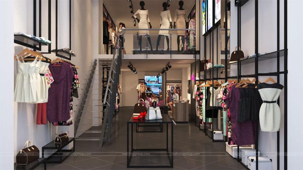 thiết kế thi công cửa hàng thời trang Miu Rey TOKYO 3