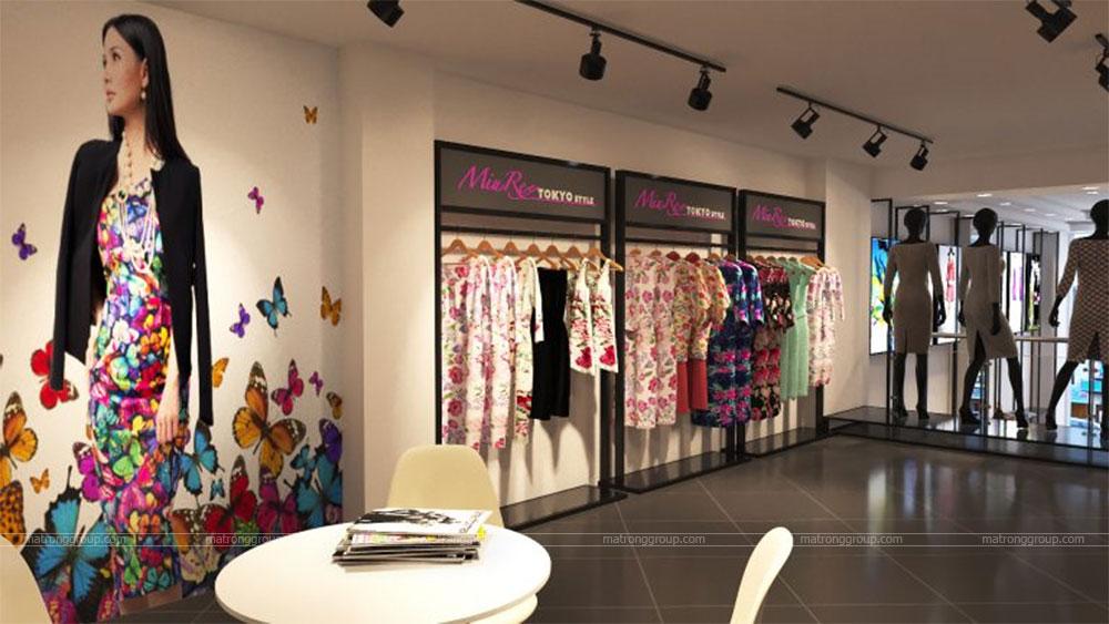 thiết kế thi công cửa hàng thời trang Miu Rey TOKYO 8
