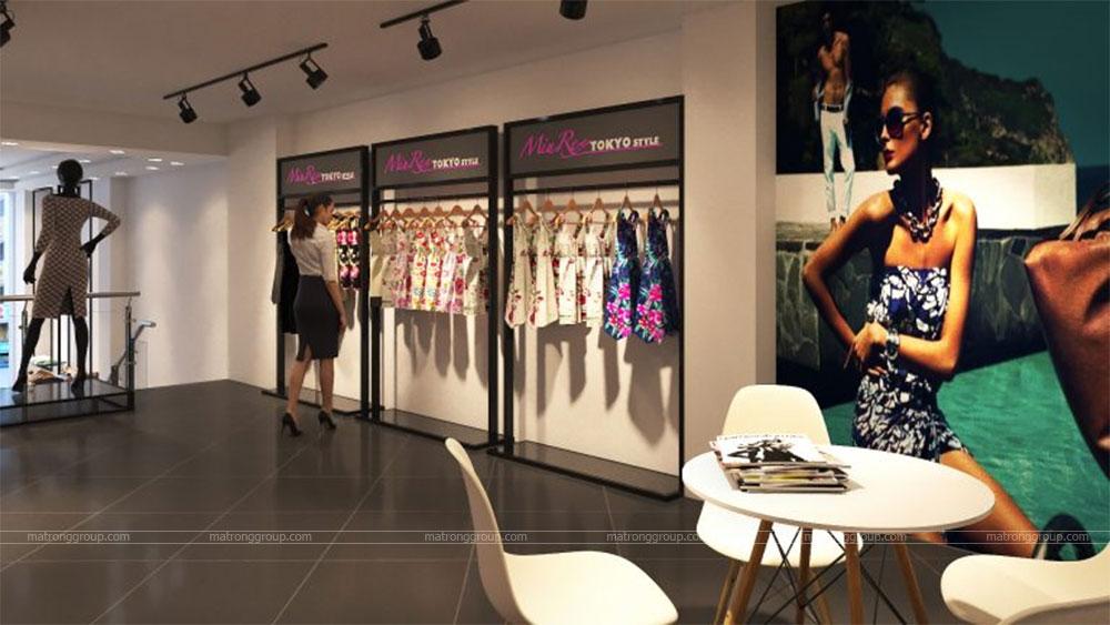 thiết kế thi công cửa hàng thời trang Miu Rey TOKYO 9