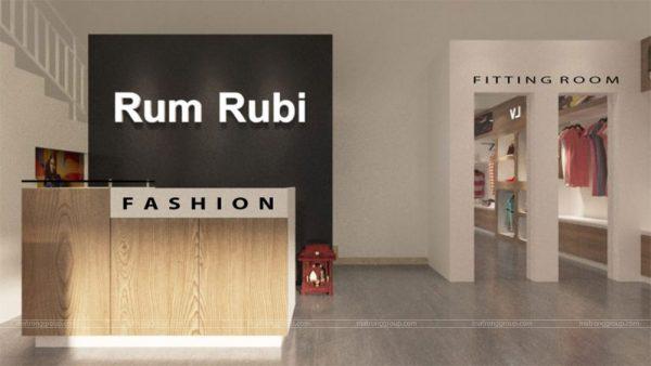 thiết kế thi công shop Mẹ & Bé Rum Rubi 7