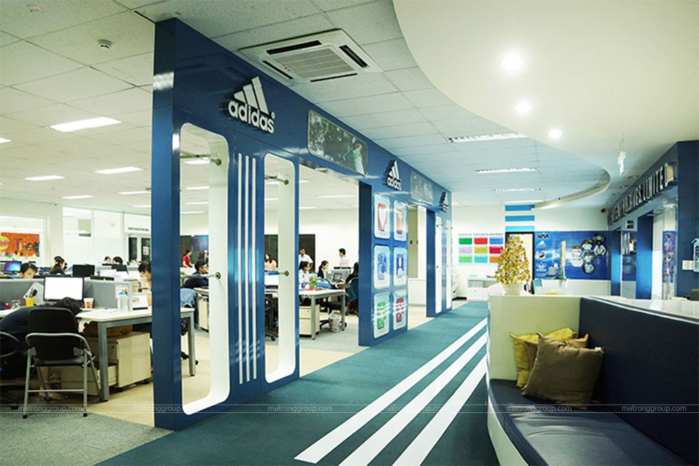 thiết kế thi công văn phòng Adidas 2