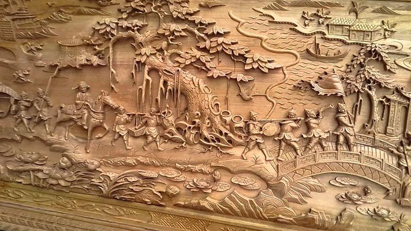 Tranh phù điêu gỗ