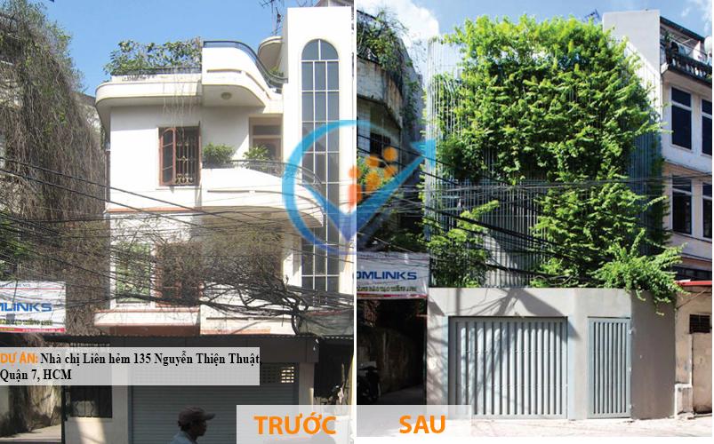 dự án sửa nhà ống Nhà chị Liên hẻm 135 Nguyễn Thiện Thuật,