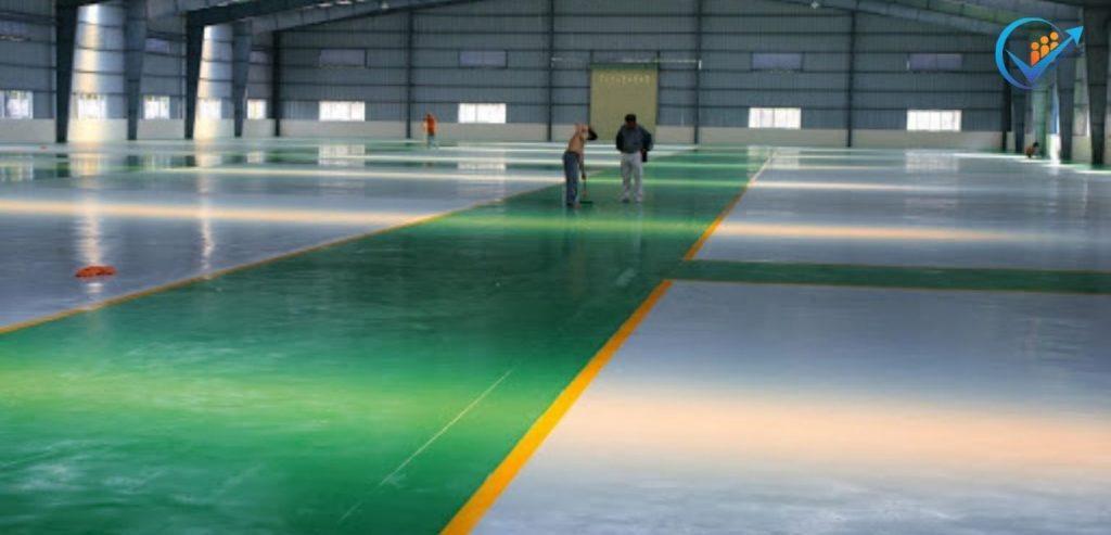 sơn nền nhà xưởng epoxy KCN Tân Tạo