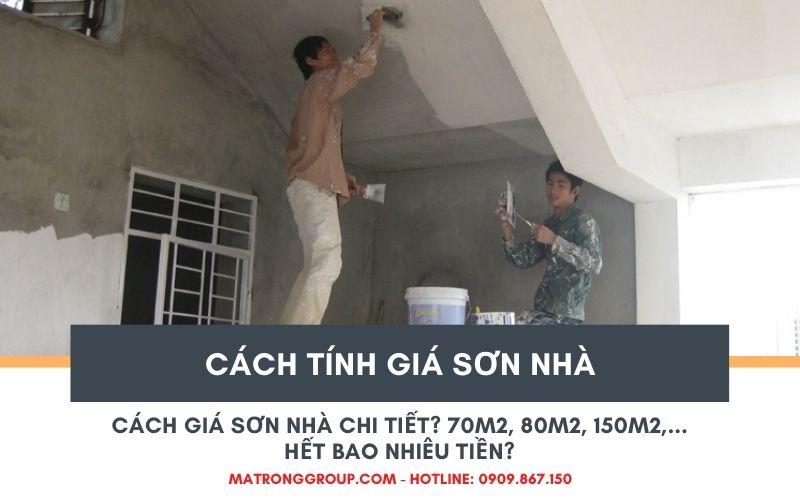 cách tính giá sơn nhà