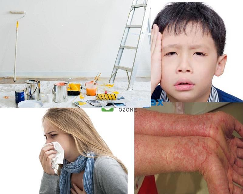 sơn lại nhà có độc hại không